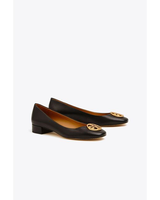 Tory Burch - Black Chelsea Heelsed Ballet Flats - Lyst