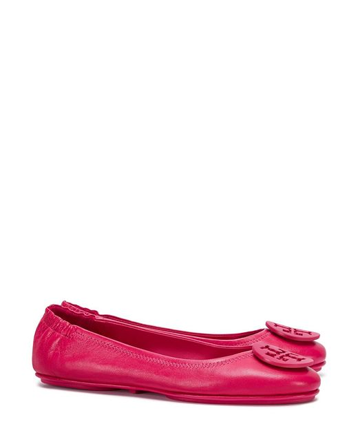 Tory Burch | Pink Minnie Travel Ballet Flats | Lyst