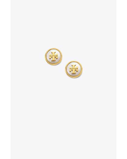 Tory Burch - Metallic Semiprecious Stud Earring - Lyst