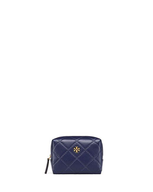Tory Burch | Blue Georgia Small Makeup Bag | Lyst