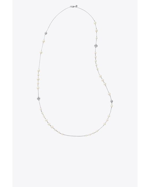 Tory Burch - Multicolor Pearl Crystal Rosary - Lyst