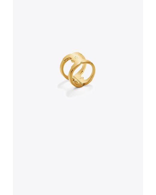 Tory Burch - Metallic Gemini Link Ring - Lyst