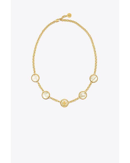 Tory Burch | Metallic Semiprecious Multi Necklace | Lyst
