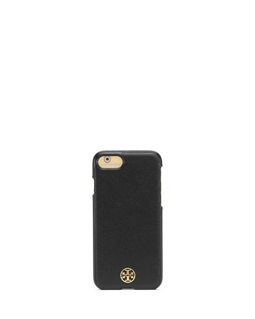 Tory Burch | Black Robinson Hardshell Case For Iphone 7 | Lyst