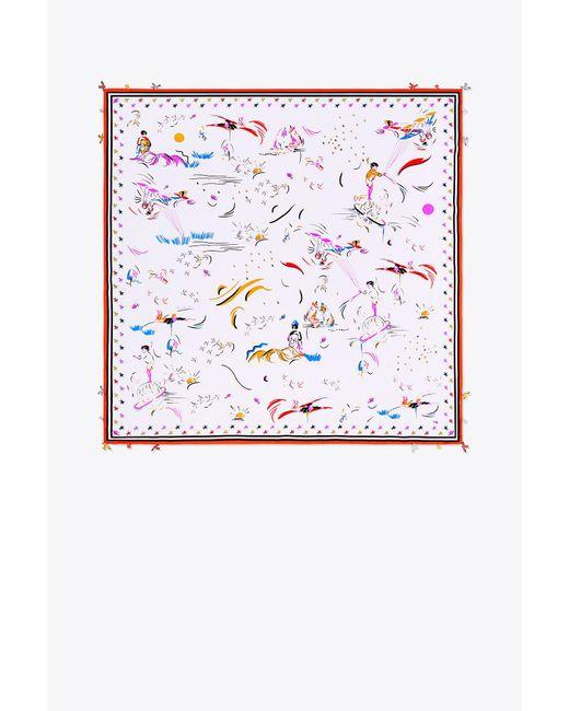 Tory Burch - Multicolor Daydream Silk Square Scarf - Lyst