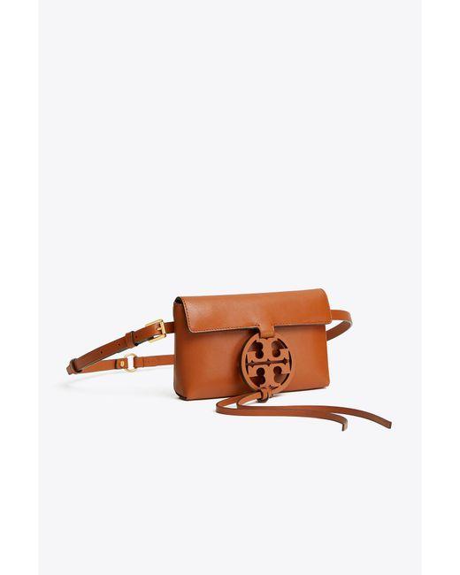 Tory Burch - Brown Miller Leather Belt Bag - Lyst