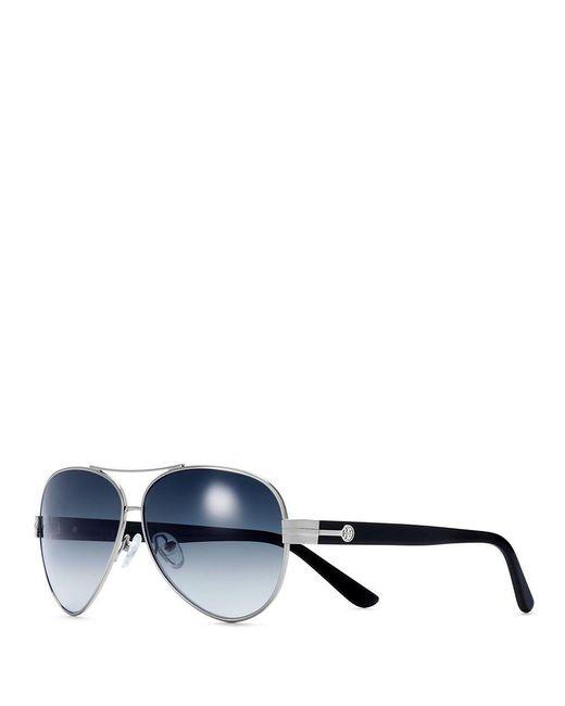 Tory Burch | Metallic Printed Aviator Sunglasses | Lyst
