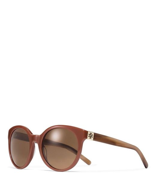 Tory Burch | Brown Vintage Round Sunglasses | Lyst