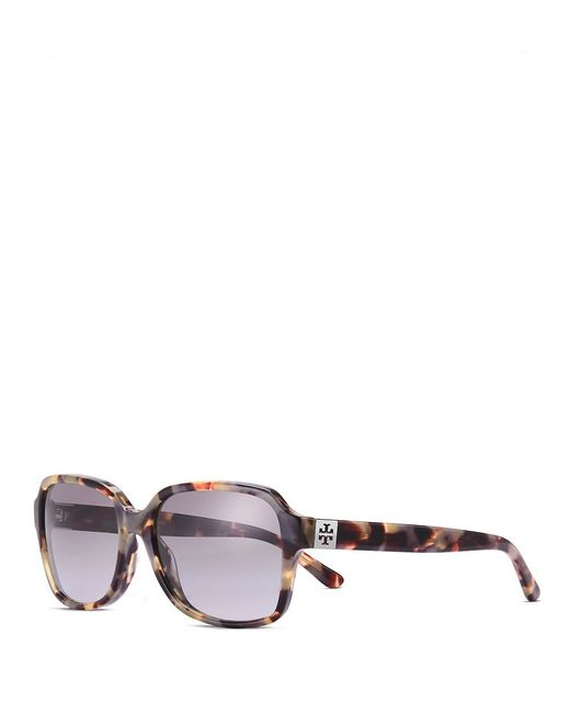 Tory Burch | Multicolor Pierced-t Rectangle Sunglasses | Lyst