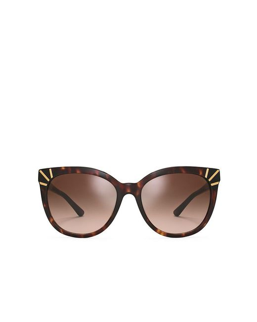 Tory Burch   Brown Graphic Square Sunglasses   Lyst