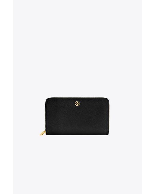 Tory Burch - Black Robinson Zip Continental Wallet - Lyst
