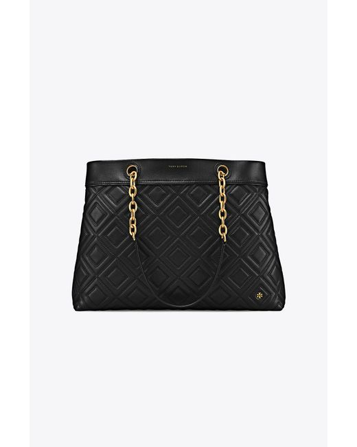 Tory Burch - Black Fleming Triple-compartment Tote - Lyst