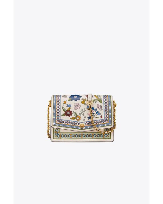 Tory Burch - White Robinson Floral Convertible Shoulder Bag - Lyst