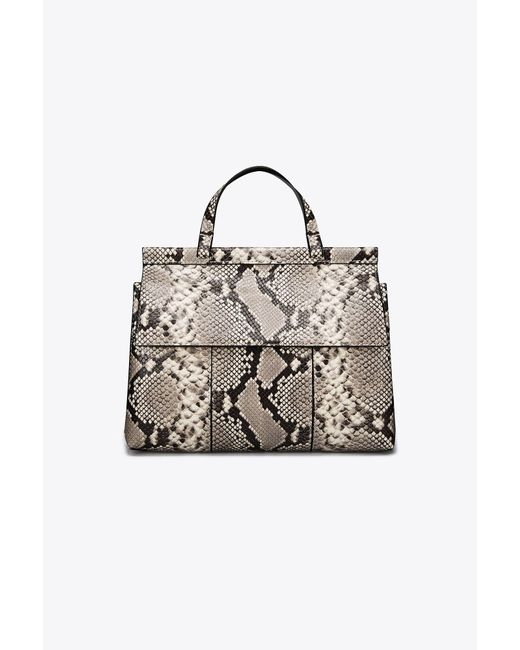 Tory Burch | Natural T Embossed Satchel | Lyst