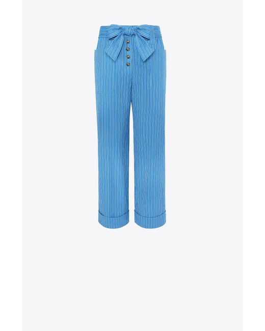 Tory Burch | Blue Robin Cropped Pants | Lyst