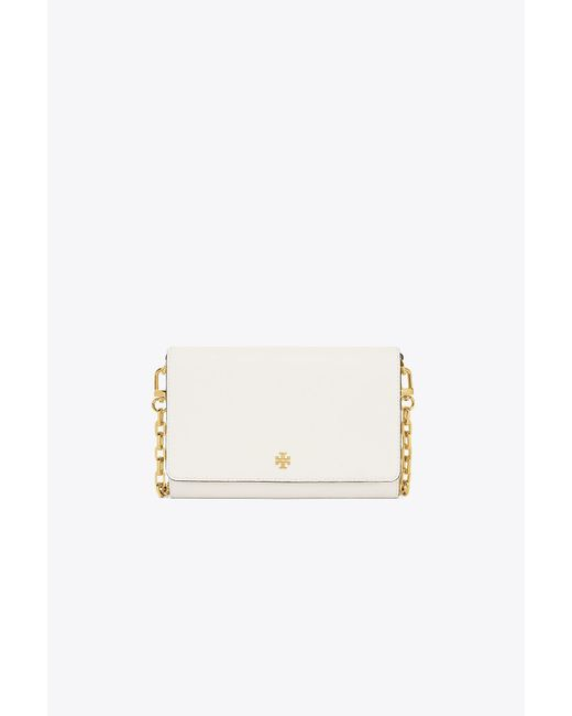 Tory Burch - White Robinson Chain Wallet - Lyst