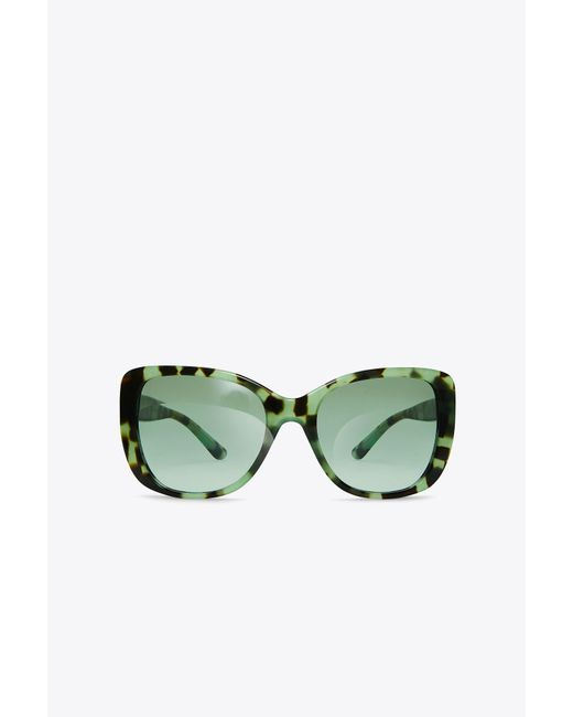 Tory Burch - Green Logo-temple Sunglasses - Lyst