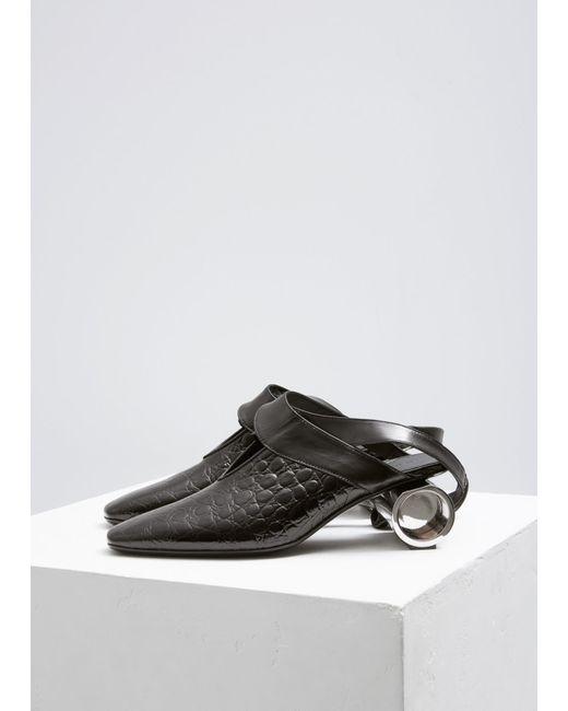 J.W. Anderson - Black Cylinder Heel Ballet Shoe - Lyst