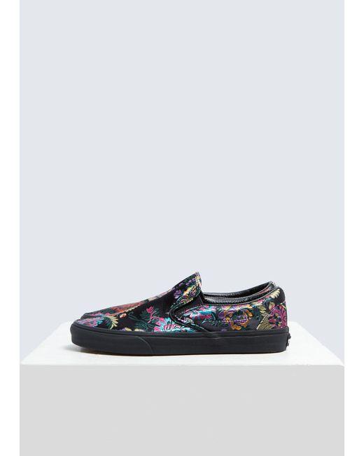 12011598a1fee7 Vans - Black Classic Slip-on Sneaker for Men - Lyst ...