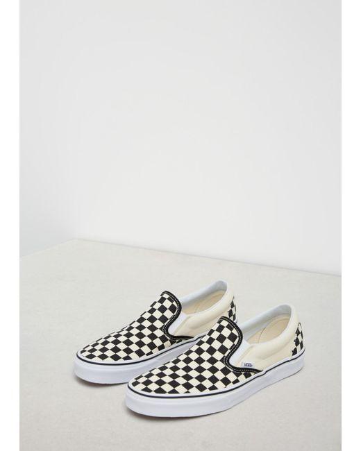 a10d6c1909 Vans - Black   White Checkerboard   White Ua Classic Slip-on Sneaker for Men  ...
