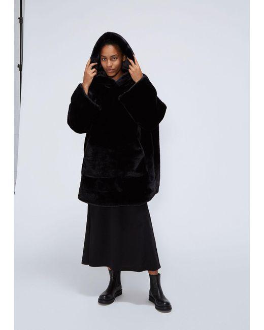 Xiao Li - Black Fur Oversized Hoodie - Lyst
