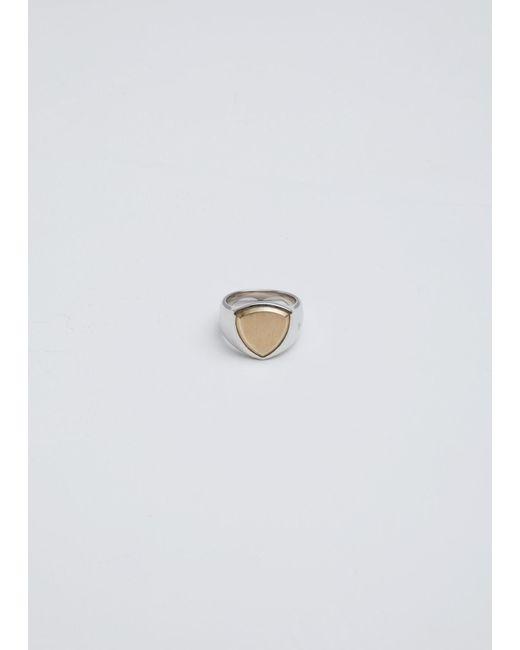 Tom Wood - Metallic Shield Gold Top Ring - Lyst