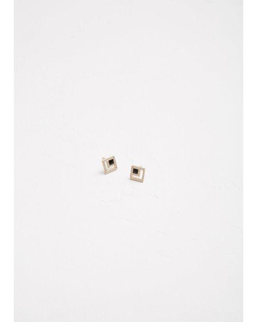 Azlee - Multicolor Eclipse Diamond Studs - Lyst