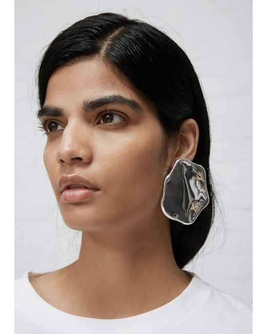 All_blues - Metallic Single Egg White Earring - Lyst