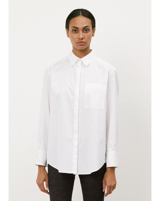 Acne | White Addle Poplin Shirt | Lyst