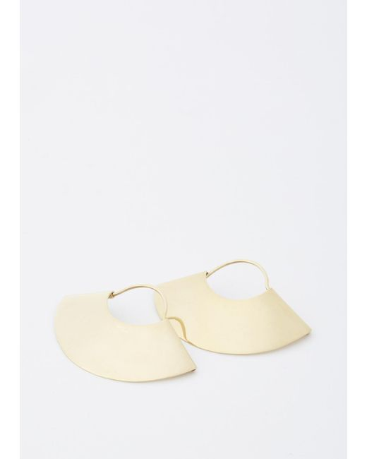 Kathleen Whitaker | Metallic Yellow Gold Fan Earrings Small | Lyst