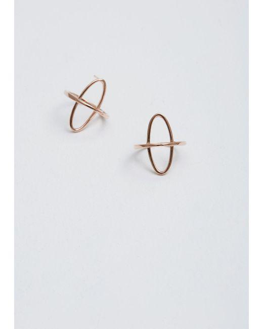 Gabriela Artigas | Metallic Rose Gold Arch Boreal Earrings | Lyst