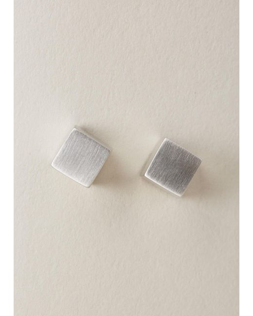 Ming Yu Wang | Metallic Sterling Silver Eclipse Earrings | Lyst