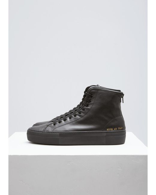 Common Projects | Black 'tournament Super' Hi-tops | Lyst