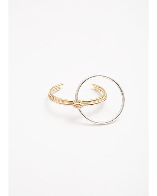 Charlotte Chesnais - Metallic Three Lovers Bracelet - Lyst