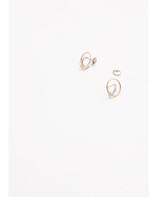 Charlotte Chesnais - White Saturn Xs Earrings - Lyst