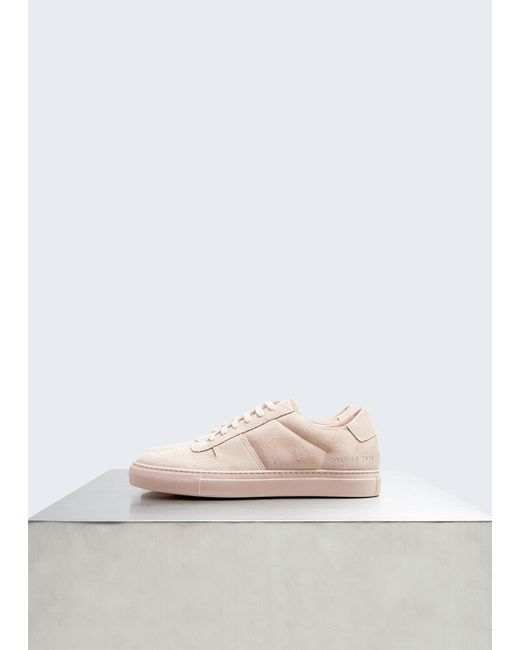 c04d31f6595948 Common Projects - Pink Suede B-ball Low - Lyst ...