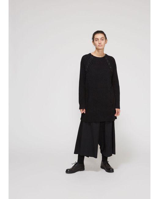 Yohji Yamamoto - Black Raglan Buttoned Turtleneck - Lyst