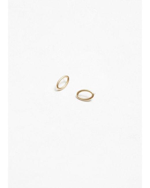 All_blues - Metallic Ellipse Polished Small Earrings - Lyst