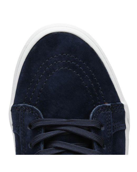 05f6c87626 ... Vans - Mens Suede   Dress Blue Sk8-hi Mte Trainers for Men - Lyst ...