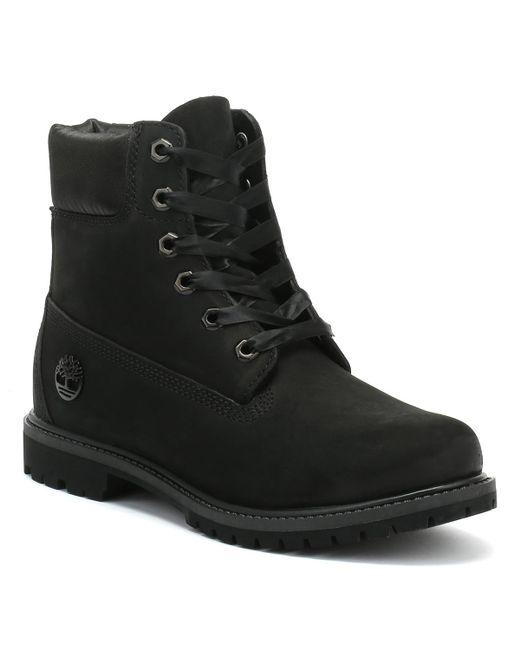 Timberland - 6 Inch Premium Womens Black Waterbuck / Satin Boots - Lyst