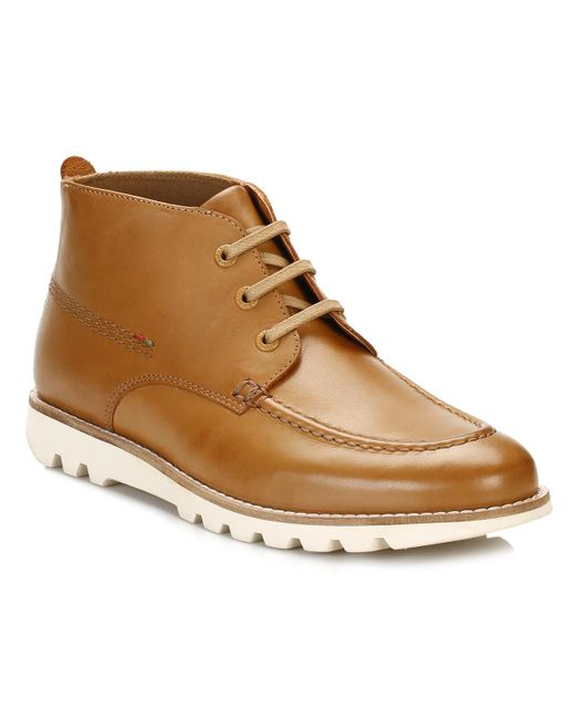 Kickers | Brown Mens Tan Kymbo Mocc Boots for Men | Lyst