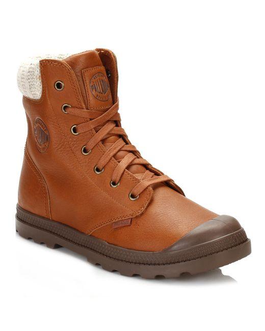 Palladium | Womens Brown Pampa Hi Knit Lp Boots | Lyst