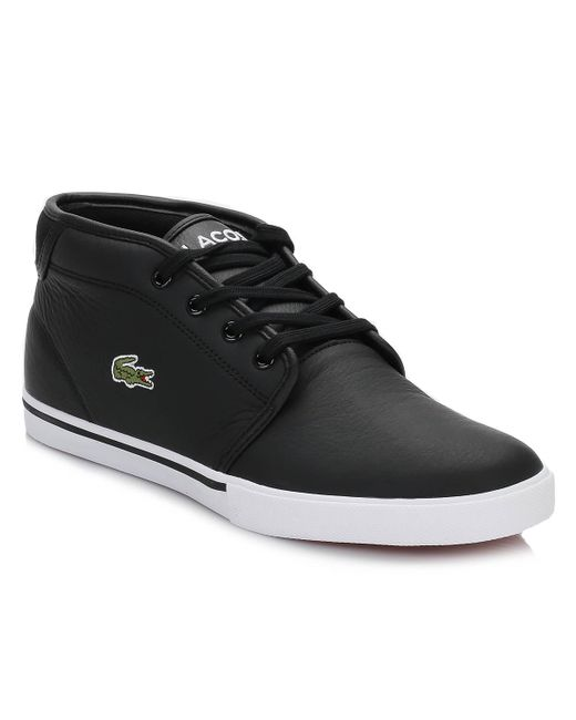 a7a1a0ebb59f4 Lacoste Ampthill 119 1 Mens Black Trainers in Black for Men - Save ...