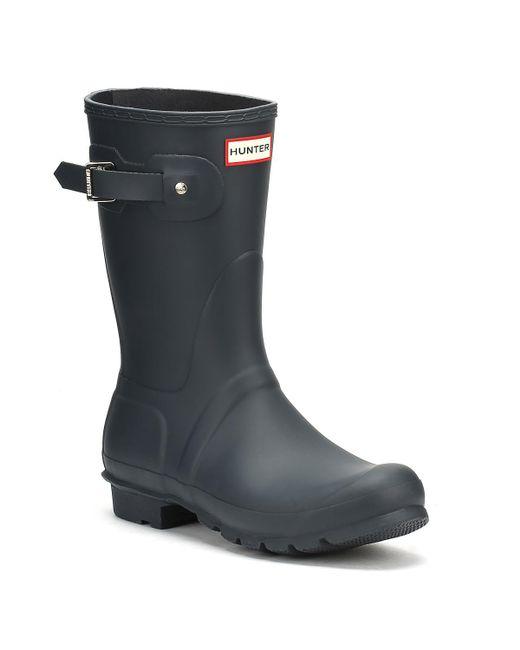 Hunter - Blue Original Womens Navy Short Wellington Boots - Lyst