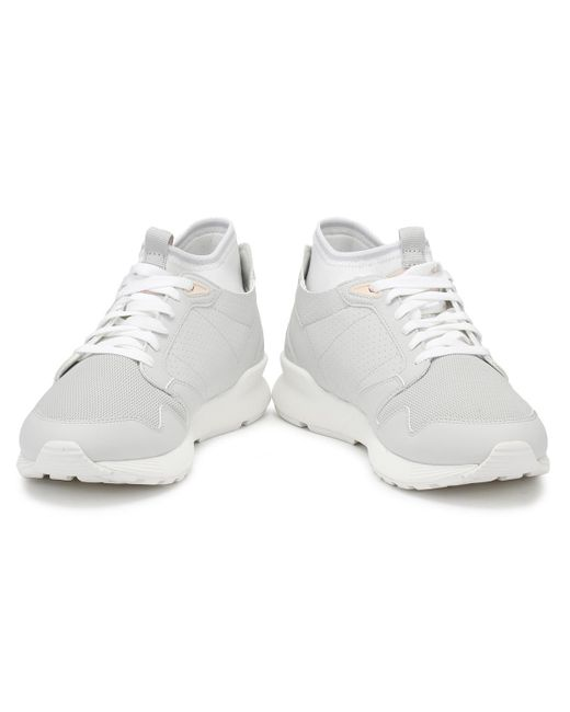 7bf6becb37d9 ... Le Coq Sportif - Gray Mens Galet Grey Omicron Sport Trainers Men s  Shoes (trainers) ...