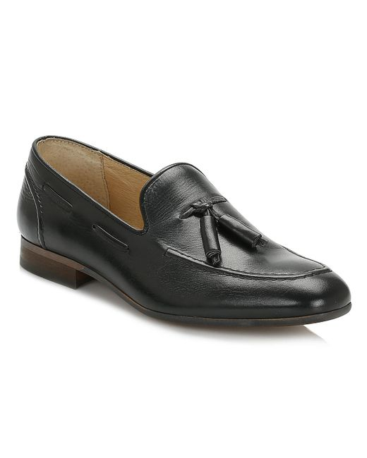 Hudson | Mens Black Pierre Calf Leather Loafers for Men | Lyst