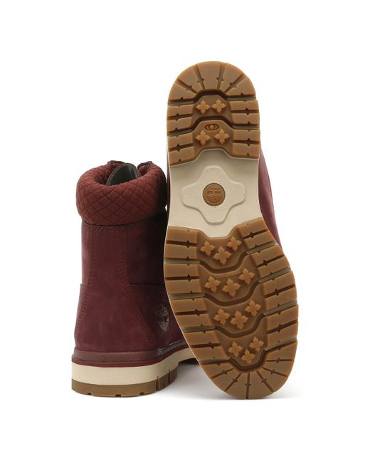 Timberland Rubber Mens Burgundy Radford 6 Inch D rings Boots