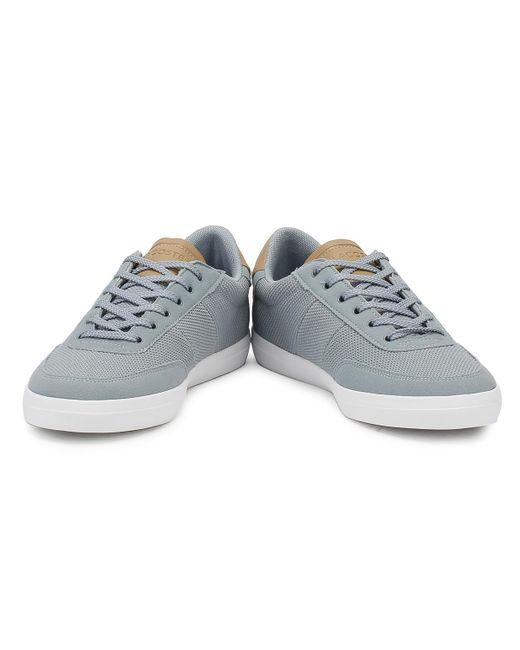 7df77947ec5ea6 ... Lacoste - Gray Mens Grey  Light Tan Court Master 118 1 Trainers for Men  ...