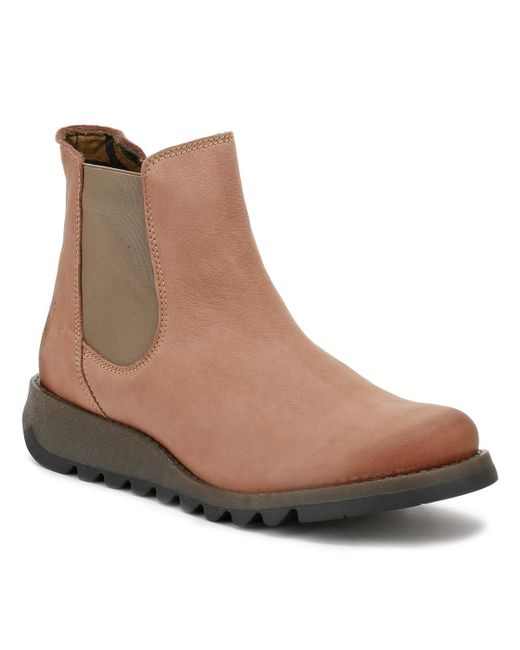 Fly London - Womens Cupido Rose Salv Leather Boots Women's Mid Boots In Brown - Lyst