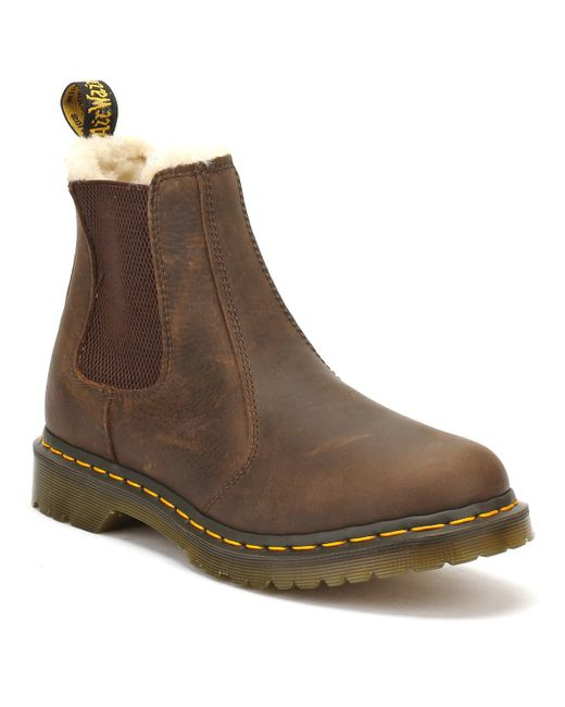 Dr. Martens | Dr. Martens Womens Dark Brown Burnished Wyoming Leonore Boots | Lyst